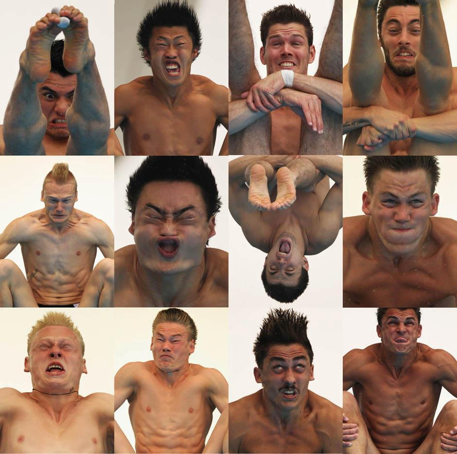 Photos taken of Olympic divers mid-dive