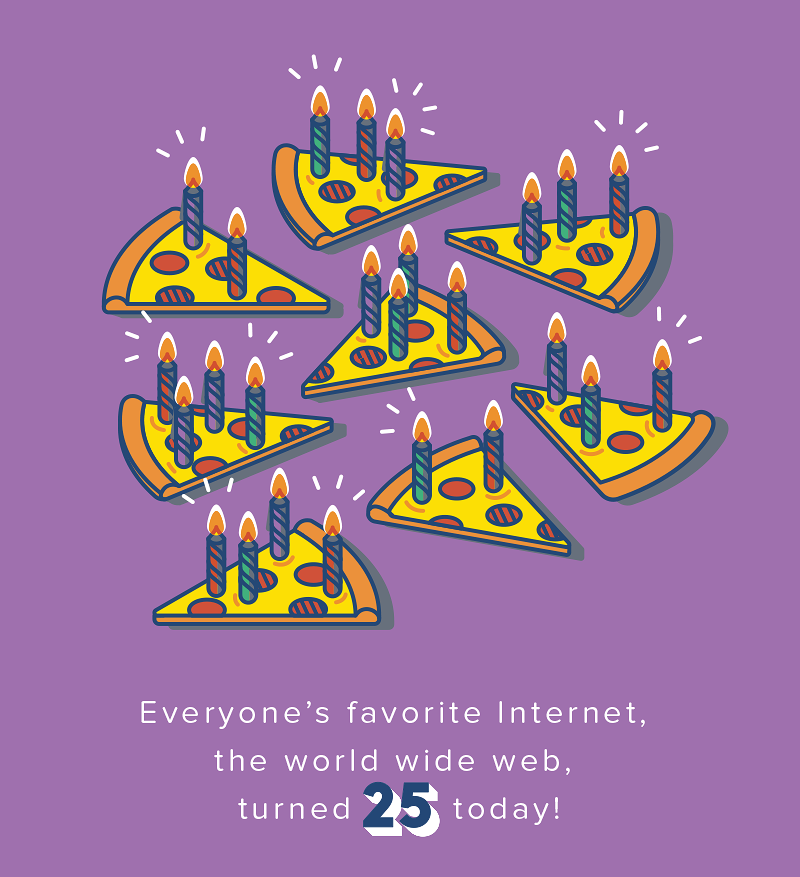 The world wide web turned 25 today