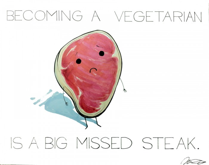 Becoming vegetarian is a big missed-steak