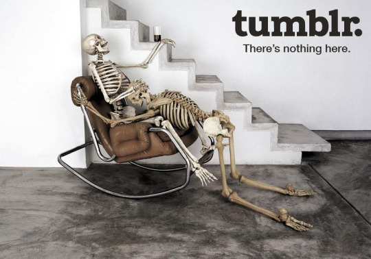 Tumblr — There is nothing here